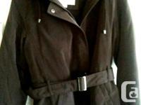 Liz Claiborne Snaux Silk Jacket, Size L, brown, water