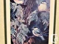 Bird lover? Lovely framed triptych by reknowned Ontario