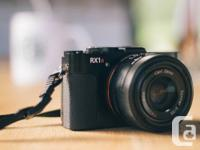 Available is an all new problem Sony RX1R full