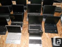 Lot of 25 P4 laptops working with ram hard drives and