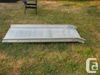 Super heavy duty aluminum ramp. One quarter inch thick