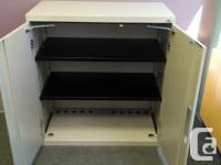 """Locking Steel Office Supply Cabinet 40"""" Tall 36"""" Wide"""