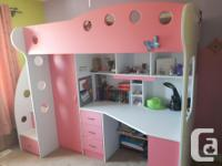 Selling two NIKA Loft Beds (white/blue and white/pink)