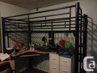 FS: Loft Twin bed - frame. $250.00 Black metal frame.