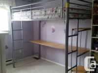 Loft bunk bed with desk Excellent condition no