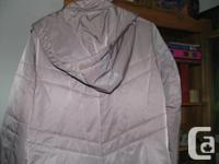 I have a beautiful silver greyish long jacket for sale.