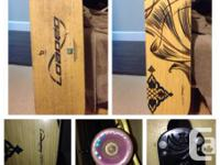 $200 OBO. Longboard and accessories.  * filled dervish
