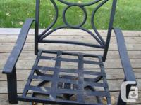I am Looking for 4 Black Metal Stacking Chairs that