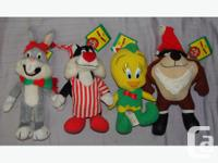 All four Looney Toons toys from McDonald's 1992
