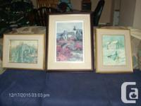 I have 3 James Lorimer Keirstead paintings available