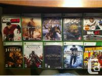 I have 10 xbox 360 games for sale, either all in one