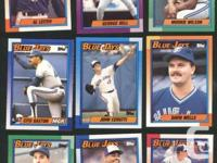 Lot of 14 1990 O Pee Chee Toronto Blue Jays Cards, most
