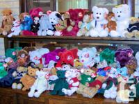 About 140 beanie babies (give or take), all with tags.