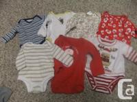 Lot of 29 baby boys clothes, size 0-6 months with a