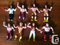 Lot of 8 WWF LJN collectable figures from the 80s. Some for sale  British Columbia