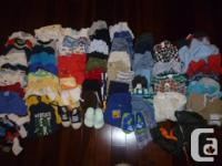 Over 60 items in this lot of baby boys clothing. Size