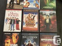We are downsizing our movie collection. Each of the