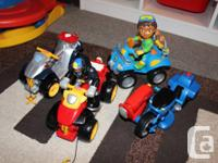 Lots of toys available.  Diego and Little Tykes all