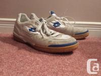 A wonderful set of Lottery indoor soccer shoes. They