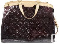 Louis Vuitton Amarante Vernis Brea GM bag.  Excellent
