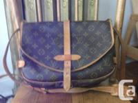 Up for sale:.  Louis Vuitton Saumur 30 Cross body Bag.