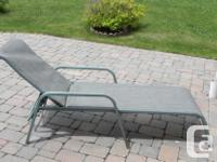 This is an outdoor lounge chair, a patio chair and a
