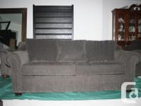 MOVING SALE. Great brown/grey color. Comfortable sofa