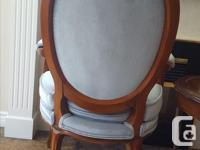 A solid mahogany set with Parlour chair and side table