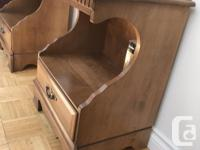 Lovely Pair of Matching Solid Maple Bedside tables.