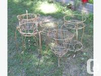 five large golden plant stands. asking $25 each ...or