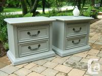 We have a set of wonderful poor stylish bedside table