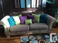 Great condition beautiful two couch livingroom set  1
