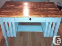 Lovely antique-style wood desk. Completely