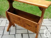 Used, Lovely Vintage Narrow Solid Wood Pine End Table with for sale  Quebec