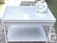 Lovely VTG Two shelves Side Table with Glass top