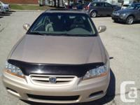 2002 Honda accord 2.3 litre 4 Cyl, fully loaded with