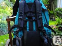 in good condition , adjustable shoulder harness for
