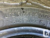 Set of 4 BF Goodrich AT K/02 tires on 16 inch
