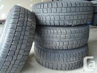 Cooper winter tires (size LT235/75R15) mounted on steel