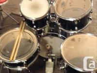 "Ludwig Accent drumset. 18"" bass drum 10, 12, 14, toms"