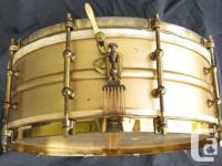 5x14 --  heavy brass shell  10 tube lugs Original gold