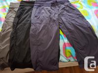 I have 3 pairs of capri lululemons and 1 pair of long