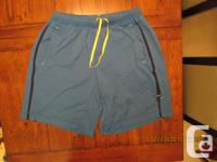 One set of males's blue Lululemon wee removed shorts