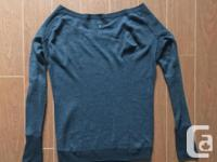 Reversible sweater (charcoal grey is the side showing,