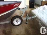 2005 Lund SSV 14 fishing boat with 25 HP electric start