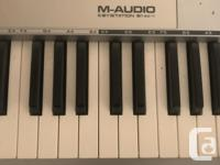 plug and play m-audio 61es midi controller. perfectly