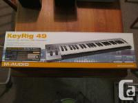 Really nice and compact 49-key MIDI controller. Almost