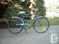 Black Raleigh 6 speed, $80 Mens blue Supercycle $80