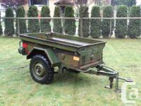 m101 trailer for sale hard to find, modifyed to have for sale  British Columbia