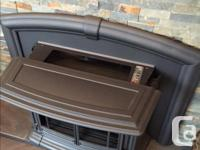 Selling our Enviro M55 Pellet Stove Insert. This stove